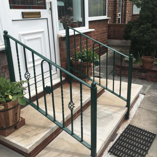 green hand rail