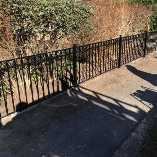 Close up railing