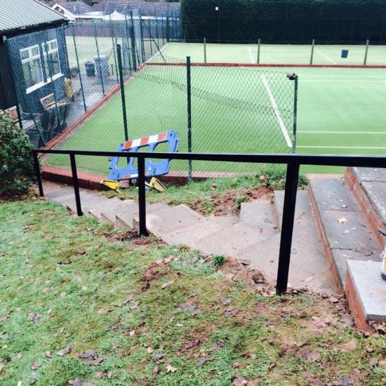 tennis court railing