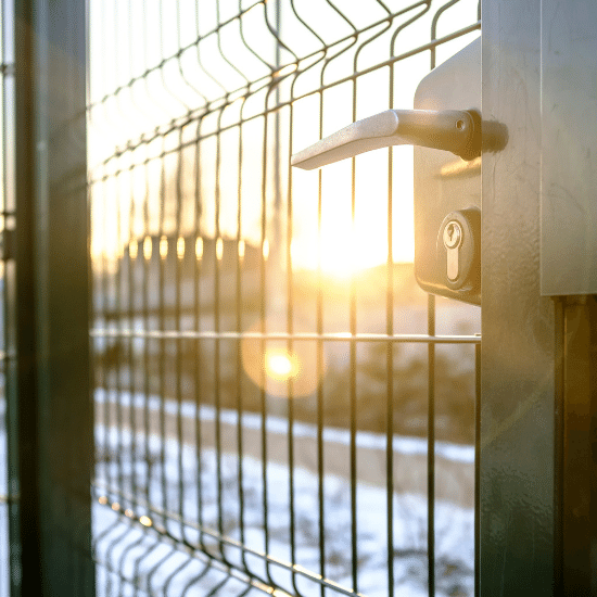 close up school fence